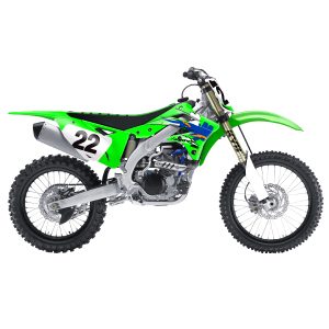 Kawasaki Retro Series Complete Kit with backgrounds