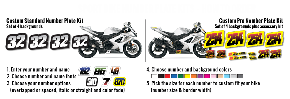Sport Bike Custom Number Plates