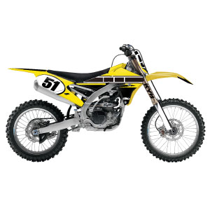 Yamaha Retro Series Yellow Complete Kit with backgrounds