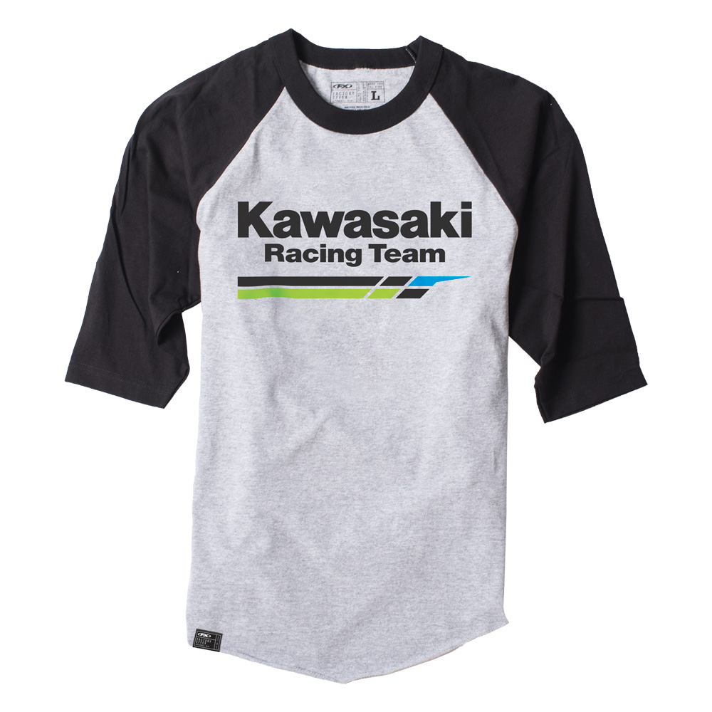 kawasaki racing baseball t shirt. Black Bedroom Furniture Sets. Home Design Ideas