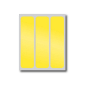 Yellow Reflective Stickers (3 Pack)