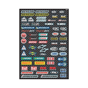Sport Bike Micro Sponsor Sticker Sheet