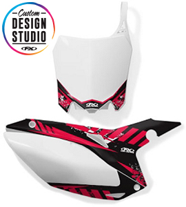 Custom Motocross Number Plate Graphics: Honda Electric