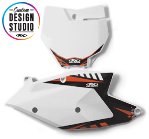 Custom Motocross Number Plate Graphics: KTM Electric