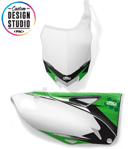 Custom Motocross Number Plate Graphics: Kawasaki Shattered
