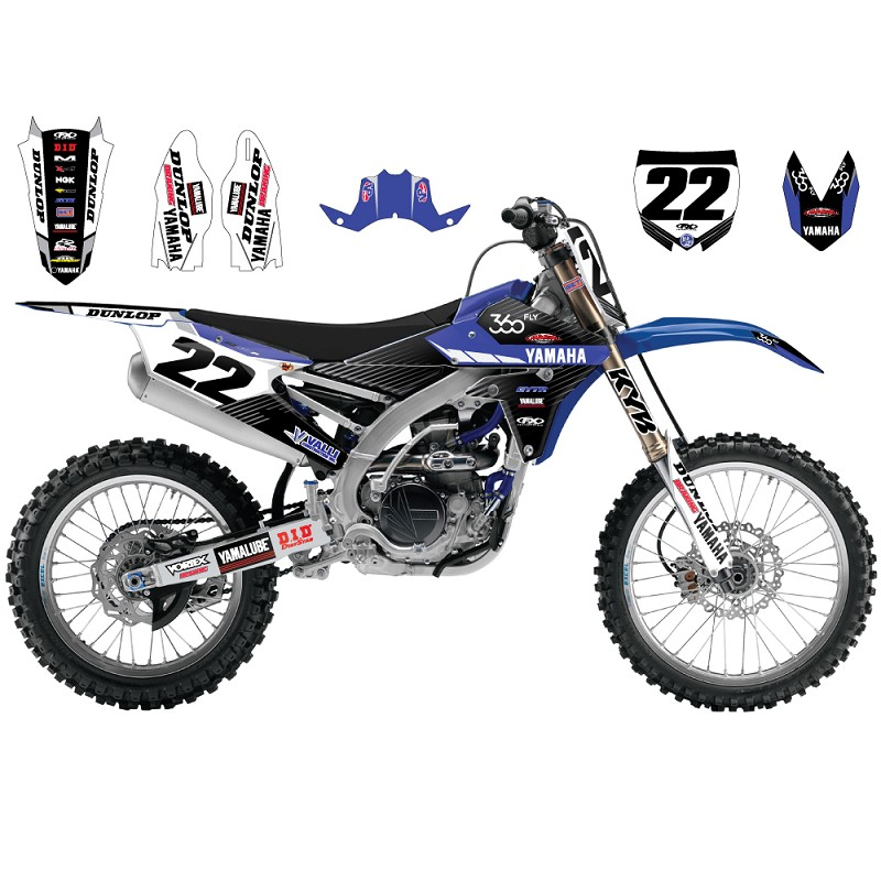 2016 factory yamaha team graphic kit w backgrounds