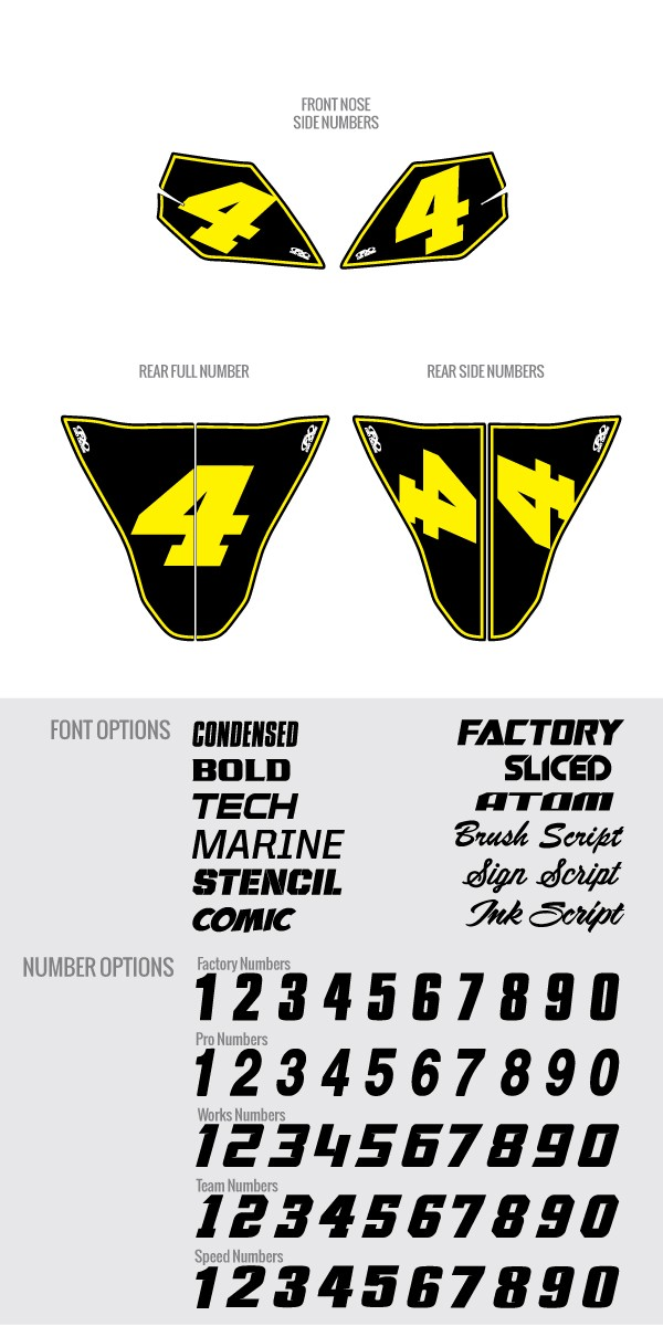 Custom Hotbodies Number Plate Kit