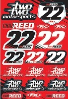 Reed Two two Motorsports Sticker Sheet