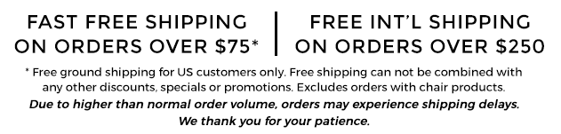 Free Shipping on US orders over $75