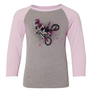 Moto Kids Girls Youth Baseball Shirt