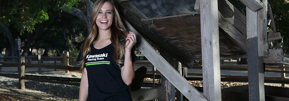women wearing kawasaki apparel