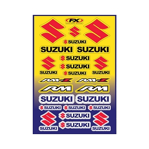 Suzuki Moto Sticker Sheet