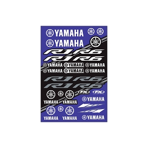 Yamaha Sport Bike Sticker Sheet