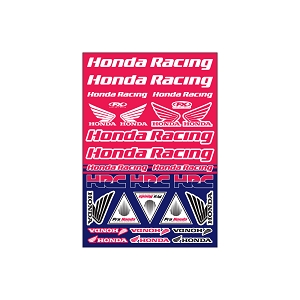 Honda Racing Sticker Sheet