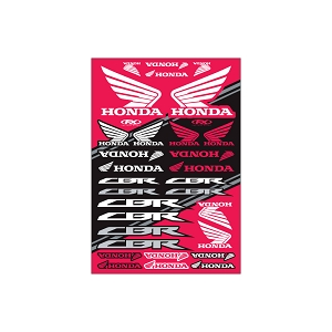 Honda Sport Bike Sticker Sheet