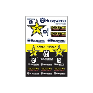 HUSQVARNA RACING Sticker Sheet