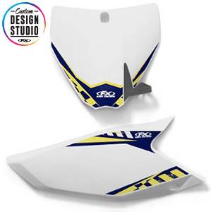 Custom Motocross Number Plate Graphics: Husqvarna Electric