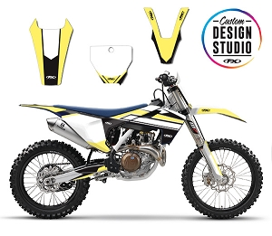 Custom Motocross Graphics: Husqvarna Rockstar