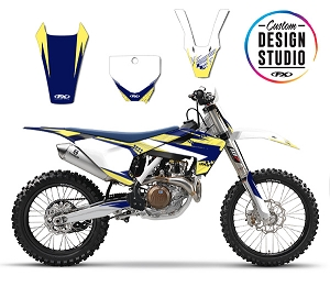 Custom Motocross Graphics: Husqvarna Shattered