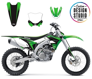 Custom Motocross Graphics: Kawasaki Shattered