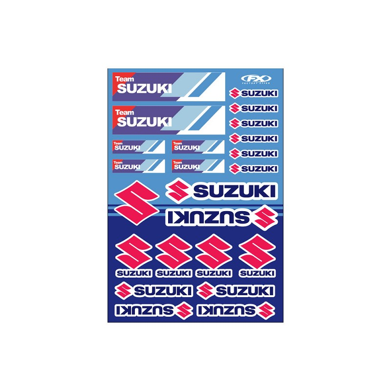 Sticker Sheet- SUZUKI RACING