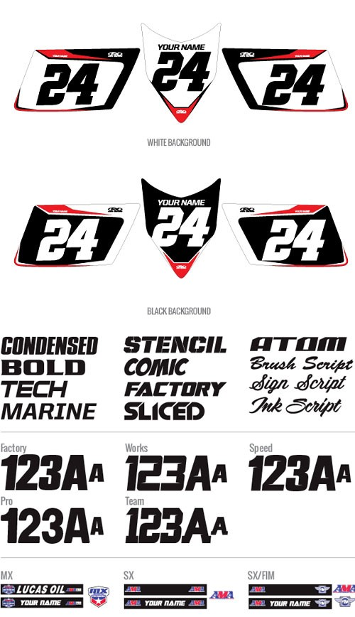 ATV Pro Number Plate Backgrounds