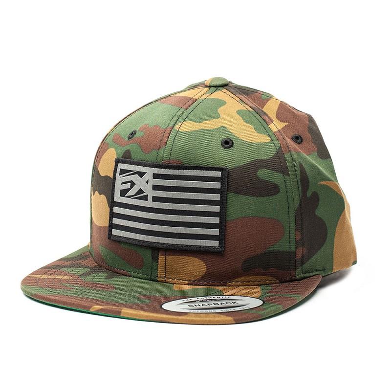 14ce3291347dc FX Flag Snapback Hat Camo