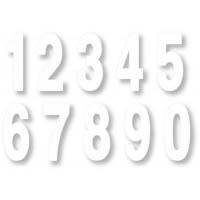 "Standard Numbers - 6"" White"