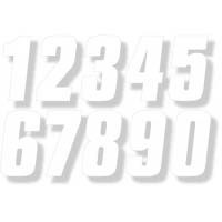 "Factory Numbers - 6"" White"