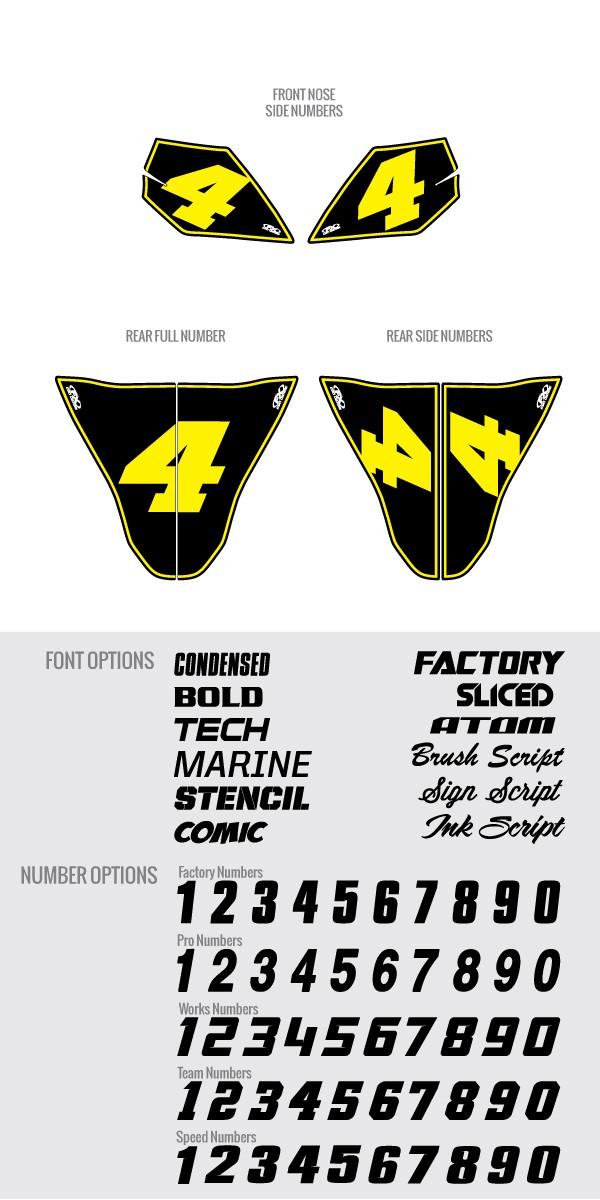 Custom Hotbodies Number Plate Kit
