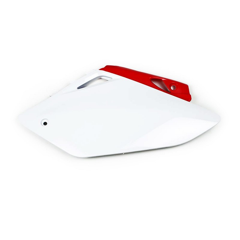 Side Plate Plastic CRF450 07-08 (White/Red)