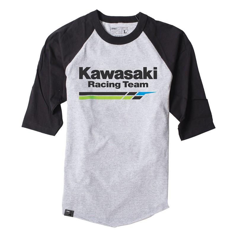 Kawasaki Racing Baseball T-Shirt