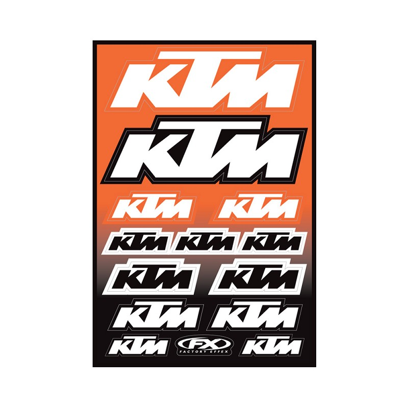 KTM Moto Sticker Sheet